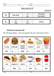 English Worksheet: How Much Is It?