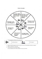 English worksheet: Airline roleplays
