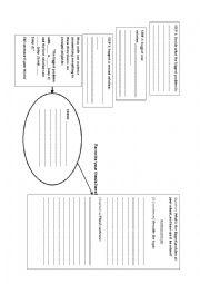 English worksheet: problem solution essay brainstorm