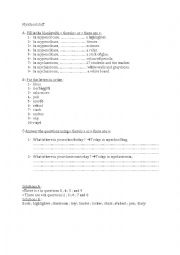 English worksheet: My school stuff.