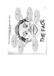 English worksheet: My face