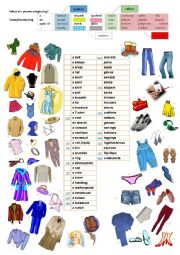 English worksheet: What are you wearing today?