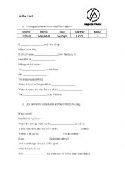 English Worksheet: Numb - Song