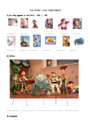 English worksheet: Toy Story- That time forgot