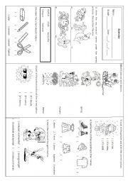 English worksheet: vocabulary review