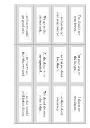 English worksheet: Matching sentences:
