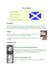 English worksheet: Scotland facts