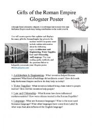 English Worksheet: Gifts from Ancient Rome