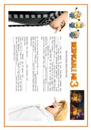 English worksheet: Despicable me 3 - Present simple