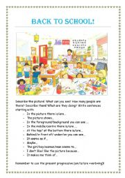 English worksheet: Back to school!