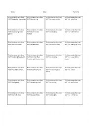 English Worksheet: Practice asking questions using the negative about likes and dislikes