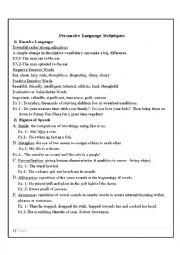 English Worksheet: Persuasive Techniques