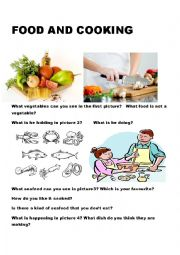 English Worksheet: Food and Cooking