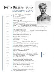 English Worksheet: Justin Bieber song worksheet