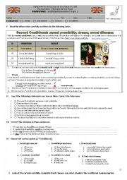 English worksheet: Conditional type 2