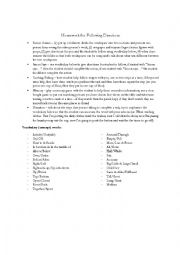 English Worksheet: Homework Ideas for Following Directions