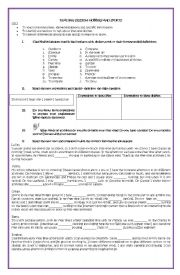 English Worksheet: reading session: hobbies and sports