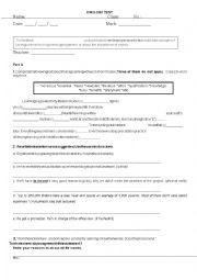 English Worksheet: Test_Coffice_Work