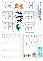 English Worksheet: Singular and Plural Worksheet
