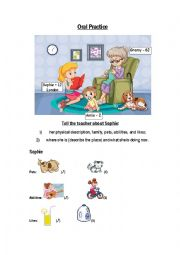 English Worksheet: Oral Practice, describing pictures (Part 2)