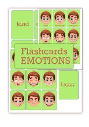 English Worksheet: Feelings and emotions flashcards