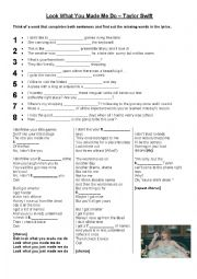 English Worksheet: Taylor Swift - Look What You Made Me Do
