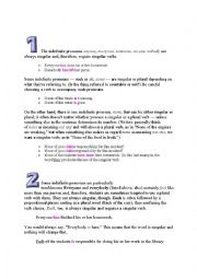 English Worksheet: Subject Verb Agreement Rules