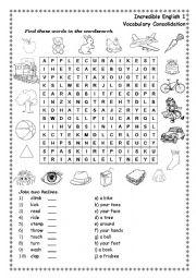 English Worksheet: Encredible English 1