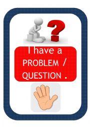 classroom hand signals posters