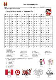 English Worksheet: national holidays in Peru