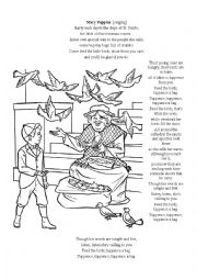 Mary Poppins Feed the Birds song reading and colouring