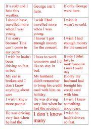 English Worksheet: I wish/If only�: