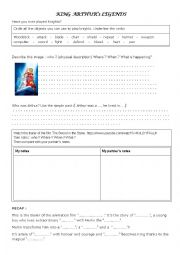 English Worksheet: King Arthur�s youth - The Sword in the Stone trailer