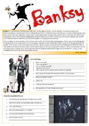 English Worksheet: BANKSY (let�s talk about Art)