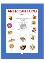 English Worksheet: American food