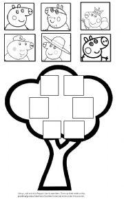 English worksheet: Peppa´s family tree