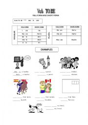 English worksheet: Personal Pronouns and Verb TO BE