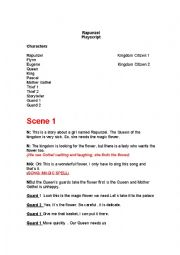 English worksheet: TANGLED ROLEPLAY