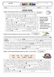 English Worksheet: entertainment test N5