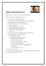 English Worksheet: Jamie Oliver dream School