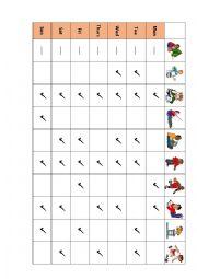 English Worksheet: Peter�s Schedule