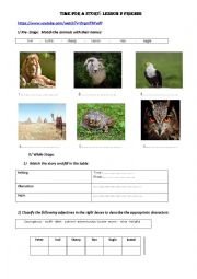 English worksheet: 8th form time for a story: Friends