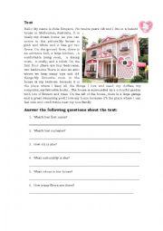 English worksheet: my dream house