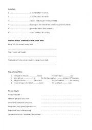 English worksheet: GRAMMAR REVISION PRESENT