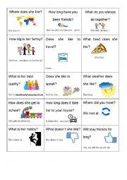 English worksheet: My Best Friend INterview