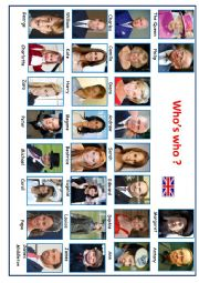 English Worksheet: Who�s who? Royal Family