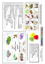 English Worksheet: rhyming