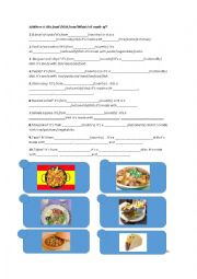 Food from different countries