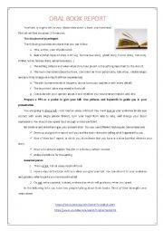 English Worksheet: Oral Book Report