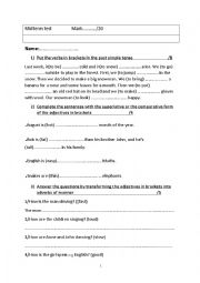 English Worksheet: happy earth 1 english test (  grammar + vocabulary)